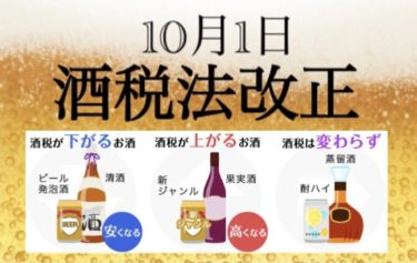 悲報!!『10月より酒税法改正⁉ 新ジャンル増税!』習慣